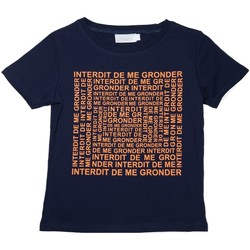 Vêtements Enfant T-shirts manches courtes Interdit De Me Gronder T-shirt manches courtes LABYRINTHE Bleu
