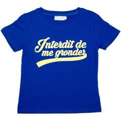 Vêtements Enfant T-shirts manches courtes Interdit De Me Gronder California Bleu