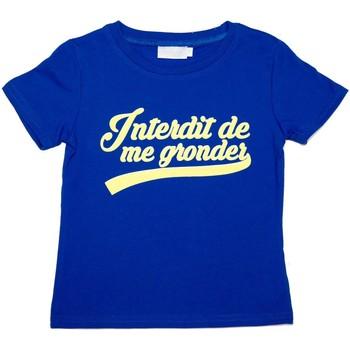 Vêtements Enfant T-shirts manches courtes Interdit De Me Gronder T-shirt manches courtes CALIFORNIA Bleu