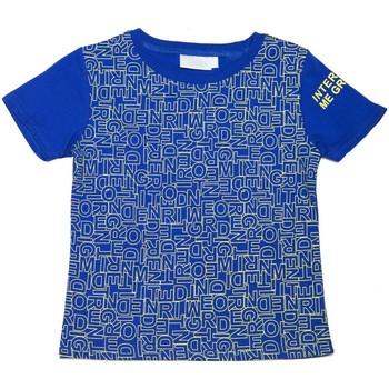 Vêtements Enfant T-shirts manches courtes Interdit De Me Gronder T-shirt manches courtes PUZZLE Bleu