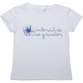 Vêtements Fille T-shirts manches courtes Interdit De Me Gronder T-shirt manches courtes VAHINE Blanc