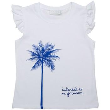 Vêtements Fille Débardeurs / T-shirts sans manche Interdit De Me Gronder T-shirt manches courtes PALM Blanc