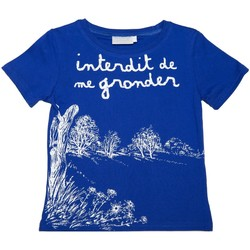 Vêtements Enfant T-shirts & Polos Interdit De Me Gronder Savanne Bleu