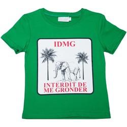 Vêtements Enfant T-shirts manches courtes Interdit De Me Gronder Olala Vert