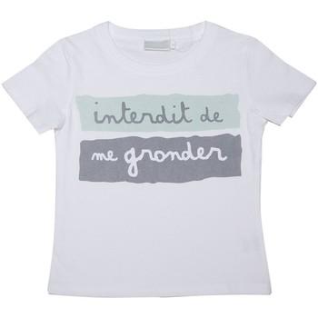 Vêtements Enfant T-shirts manches courtes Interdit De Me Gronder Gentleman Blanc