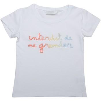 Vêtements Fille T-shirts manches courtes Interdit De Me Gronder T-shirt manches courtes RIHA Blanc