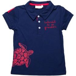 Vêtements Enfant Polos manches courtes Interdit De Me Gronder Island Bleu