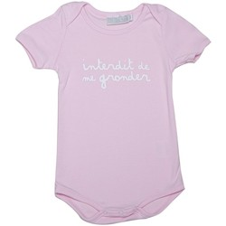 Vêtements Fille Bodys Interdit De Me Gronder Body manches courtes PINKY Rose