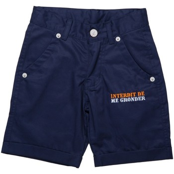 Vêtements Garçon Shorts / Bermudas Interdit De Me Gronder Short PLAYA Bleu