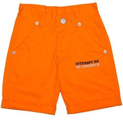 Vêtements Garçon Shorts / Bermudas Interdit De Me Gronder Short PLAYA Orange