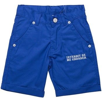 Vêtements Garçon Shorts / Bermudas Interdit De Me Gronder Short DILLY Bleu