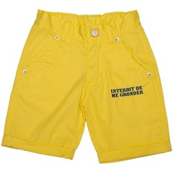 Vêtements Garçon Shorts / Bermudas Interdit De Me Gronder Short DILLY Jaune