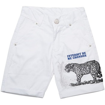 Vêtements Garçon Shorts / Bermudas Interdit De Me Gronder Short FOREST Blanc