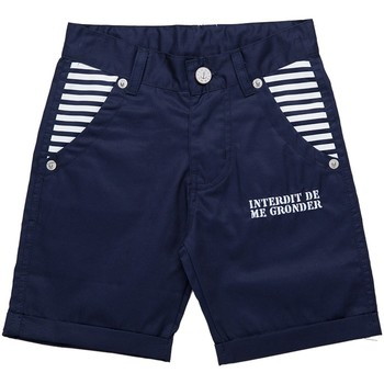 Vêtements Garçon Shorts / Bermudas Interdit De Me Gronder Short MARINERO Bleu