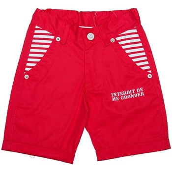 Vêtements Garçon Shorts / Bermudas Interdit De Me Gronder Short MARINERO Rouge