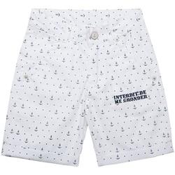 Vêtements Garçon Shorts / Bermudas Interdit De Me Gronder Gino Blanc