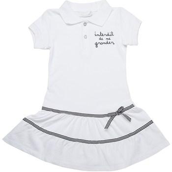 Vêtements Fille Robes Interdit De Me Gronder Robe manches courtes MAGNIFIQUE Blanc