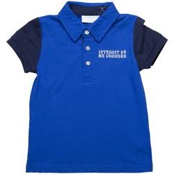 Vêtements Garçon Polos manches courtes Interdit De Me Gronder Polo manches courtes  COMLUMBIA Bleu