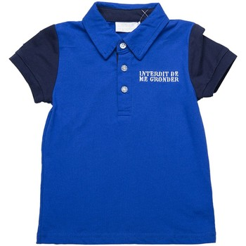 Vêtements Garçon Polos manches courtes Interdit De Me Gronder Columbia Bleu