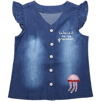 Vêtements Fille Chemises / Chemisiers Interdit De Me Gronder Chemise manches courtes SANI Bleu