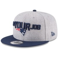 Accessoires textile Homme Casquettes New Era Casquette NFL New England Patriots  Draft 2018 9FIFTY Snapback G Gris