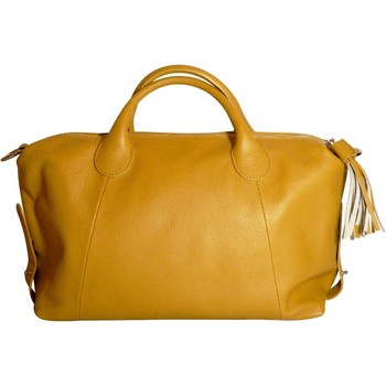 Sacs Femme Cabas / Sacs shopping Ju&zo Grand sac en cuir Le Esther Jaune