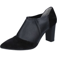 Chaussures Femme Bottines Le Marrine chaussures femme  bottines bottines noir cuir daim BY732 noir