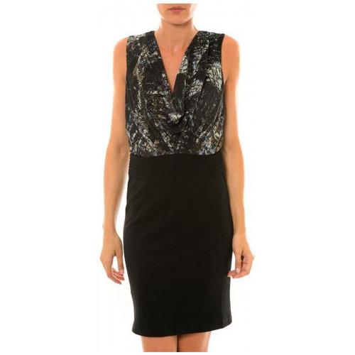 Vêtements Femme Robes courtes Les Petites Bombes les-p-tites-bombes L P B robe imprimée ecorce noir