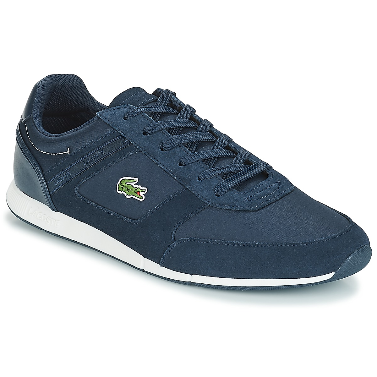 Homme LACOSTE caanaby EVO Cuir Baskets Taille UK 7-11.5 RRP £ 85 Grade B