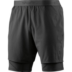 Vêtements Homme Shorts / Bermudas Skins DNAmic Mens Superpose 1/2 Tights Black/SilveR Noir