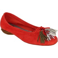 Chaussures Femme Ballerines / babies Folies Eve Rouge velours