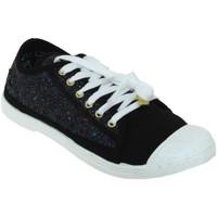 Chaussures Femme Baskets basses Le Temps des Cerises Basic 02 glitter Noir toile
