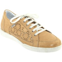Chaussures Femme Baskets basses Mephisto Daniele perf Beige cuir