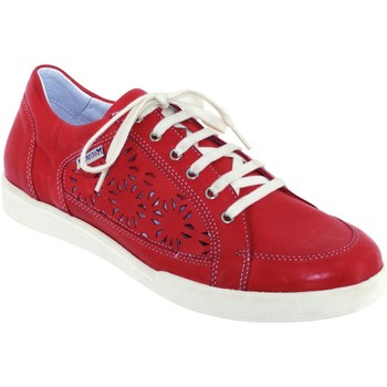 Chaussures Femme Baskets basses Mephisto Daniele perf Rouge cuir