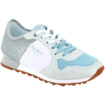 02029281f3b63 Chaussures Femme Baskets basses Pepe jeans Pls30625 Blanc gris bleu