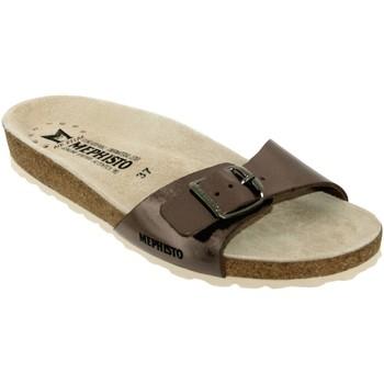 Chaussures Femme Claquettes Mephisto Nanouchka Taupe cuir