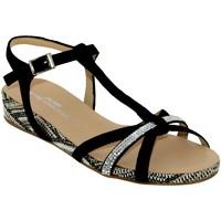 Chaussures Femme Sandales et Nu-pieds Brenda Zaro F2719 Noir velours
