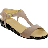 Chaussures Femme Sandales et Nu-pieds Brenda Zaro F2772 Beige rosé velours