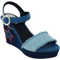 Chaussures Femme Sandales et Nu-pieds Desigual Virgo Jeans toile