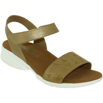 Chaussures Femme Sandales et Nu-pieds Mephisto Fabie doré cuir