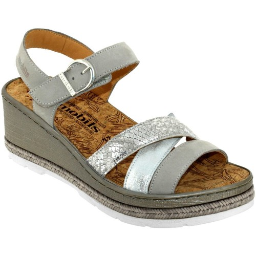Mobils By Mephisto Benita Gris cuir - Chaussures Sandale Femme