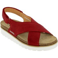 Chaussures Femme Sandales et Nu-pieds Mobils By Mephisto Tally Rouge cuir