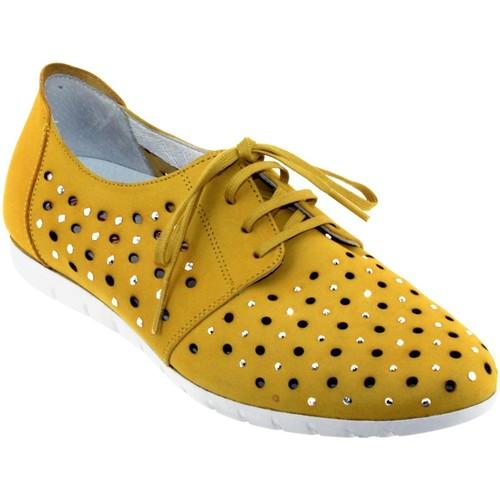 Sabrinas Bruselas 85006 Jaune nubuck - Chaussures Derbies Femme