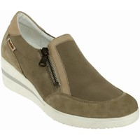 Chaussures Femme Mocassins Mobils By Mephisto Pupina Taupe cuir