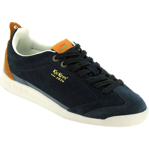 Kickers Kick 18 Marine velours - Chaussures Baskets basses Homme
