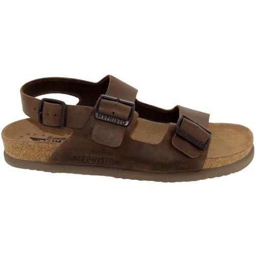 642ace07f6f0e4 Chaussures Homme Sandales et Nu-pieds Mephisto Nardo Marron cuir