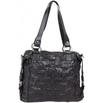Sacs Femme Cabas / Sacs shopping Arthur & Aston Sac cabas Arthur et Aston effet vieilli froissé noir Noir