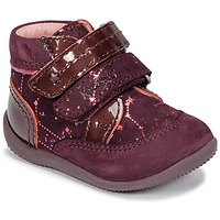 Chaussures Fille Boots Kickers BILIANA Violet / Rose