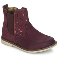 Chaussures Fille Boots Kickers MOON Bordeaux