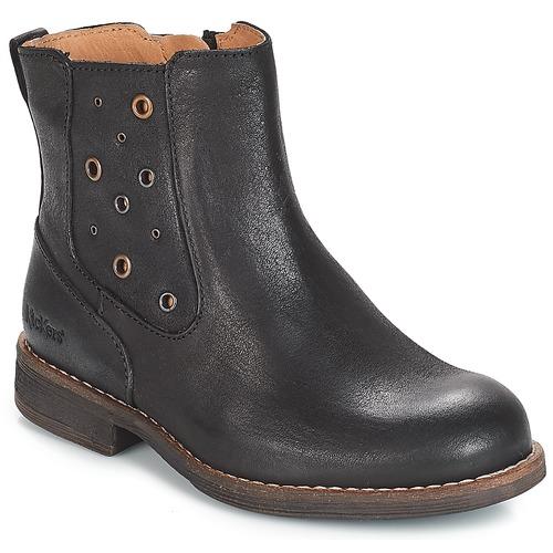1f6205ca16a757 Kickers SMAD Noir - Livraison Gratuite | Spartoo ! - Chaussures ...